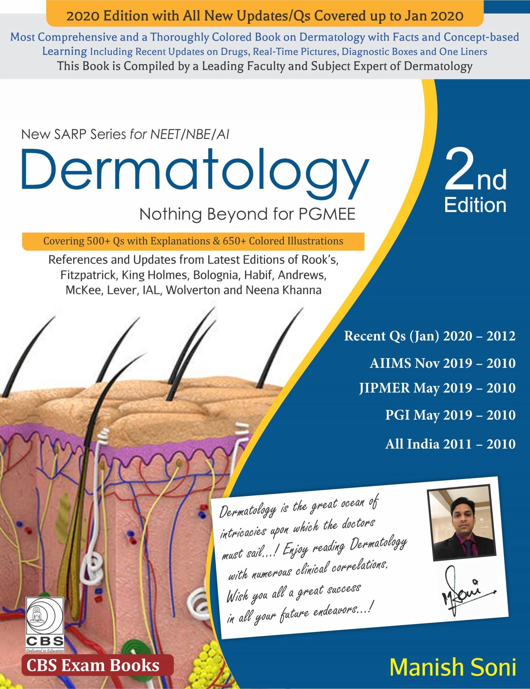 Dermatology Nothing Beyond PGMEE (New SARP Series for NEET/NBE/AI)-9788194578307-Manish Soni