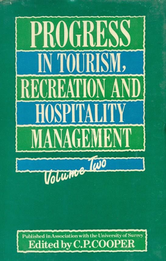 Progress In Tourism, Recreation & Hosp. Mgmt, Vol.2