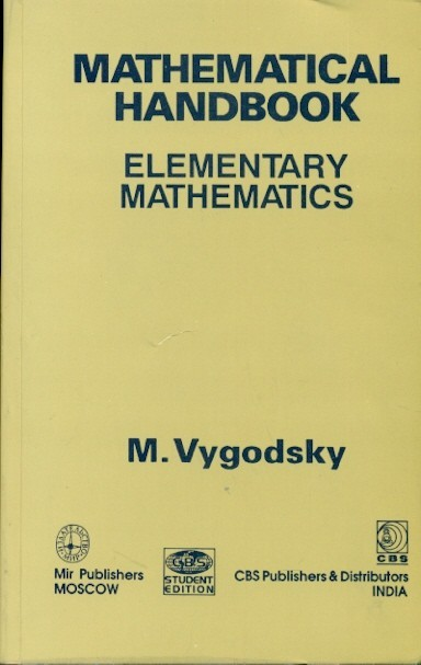 Mathematical Handbook: Elementary Mathematics (Pb)