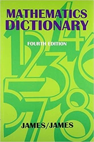 Mathematics Dictionary, 4Ed
