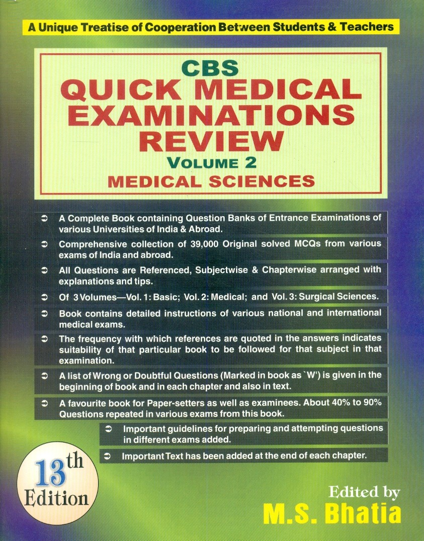 Cbs Quick Medical Examinations Review, 13E, Vol. 2
