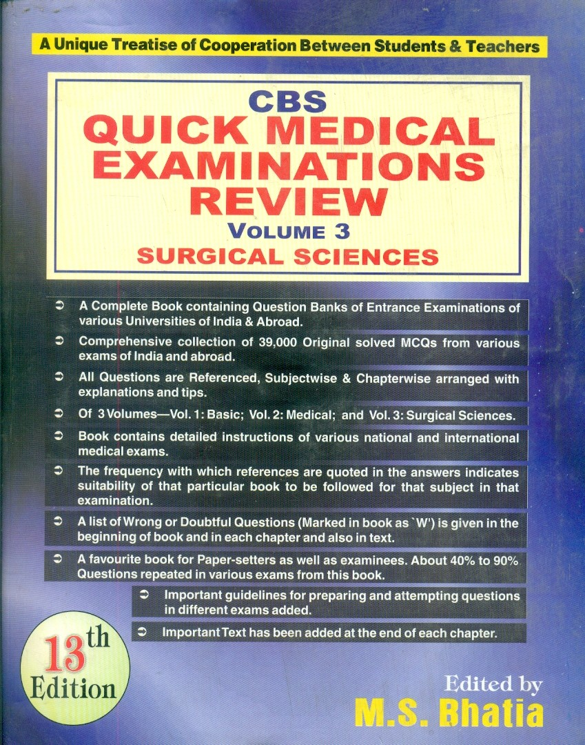 Cbs Quick Medical Examinations Review, 13E, Vol. 3