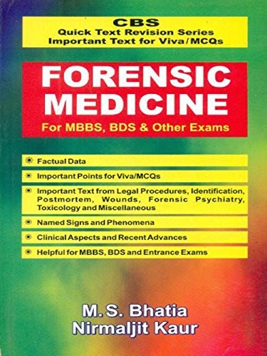 Forensic Medicine For Mbbs, Bds & Other Exams