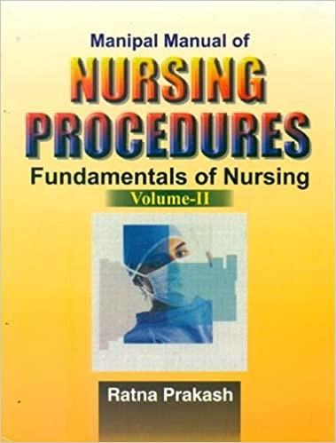 Manipal Manual Of Nursing Procedures Fundamentals Of Nursing Vol 2 (Pb 2016)