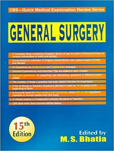 General Surgery- Cbs Quick Medical Examination Review Series, 15 E