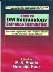 Cbs Dm Immunology Entrance Examination (Pb 2016)