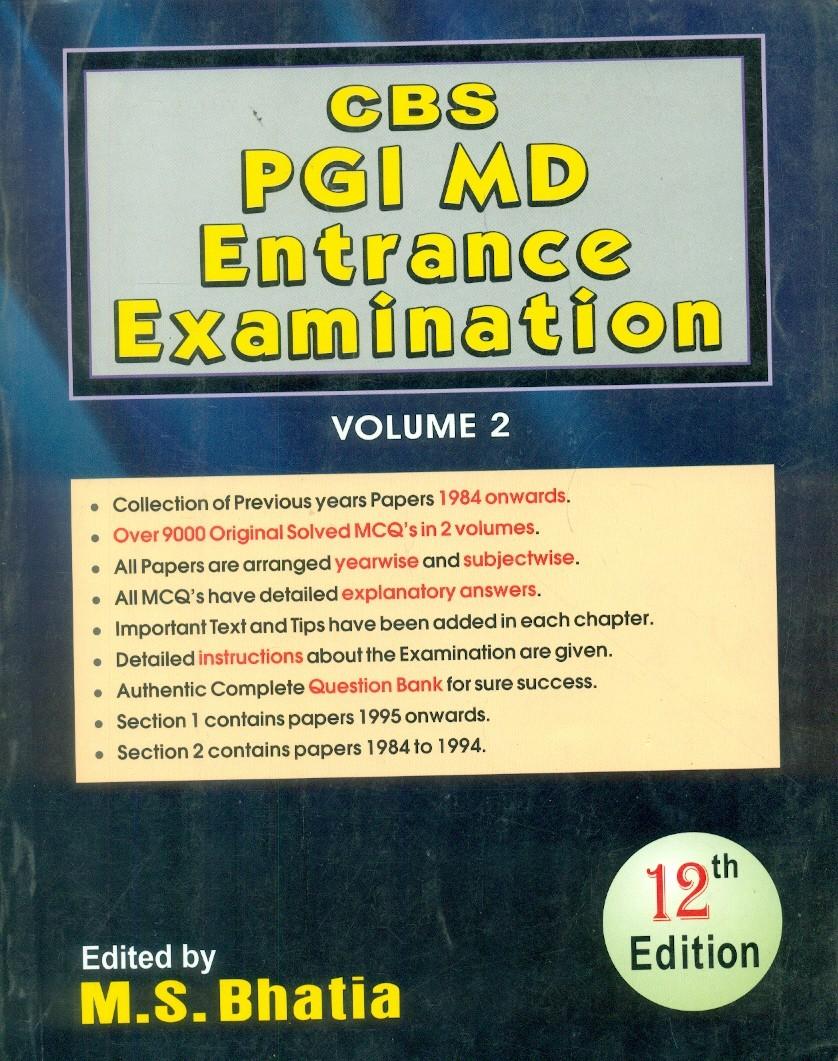 Cbs Pgi Md Entrance Examination, 12 E,  Vol.2