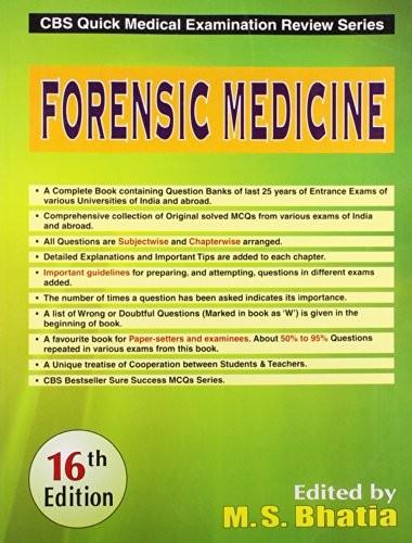 Forensic Medicine , 16E (Cbs Quick Medical Examination Review Series) (Pb)