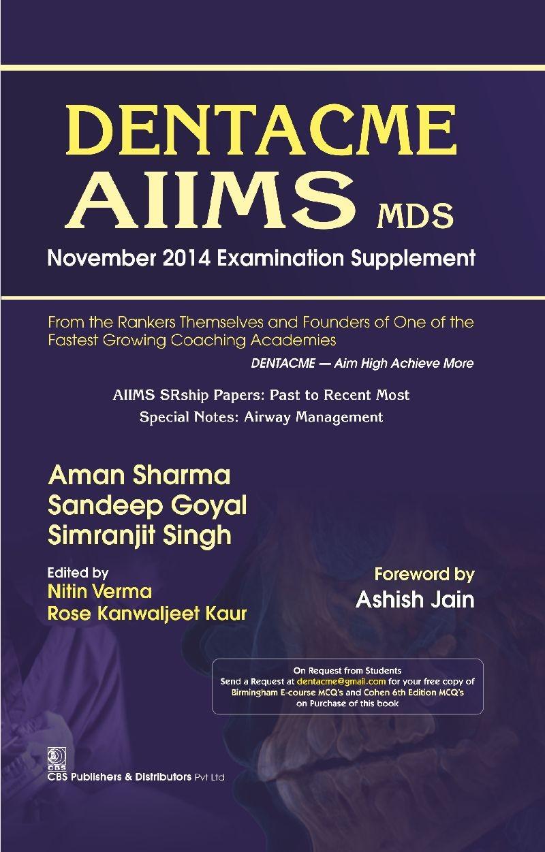Denta Cme Aiims Mds November 2014 Examination Supplement (Pb 2015)