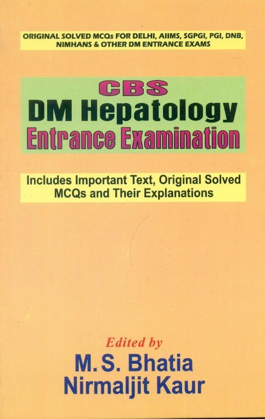 Cbs Dm Hepatology Entrance Examination (Pb 2016)