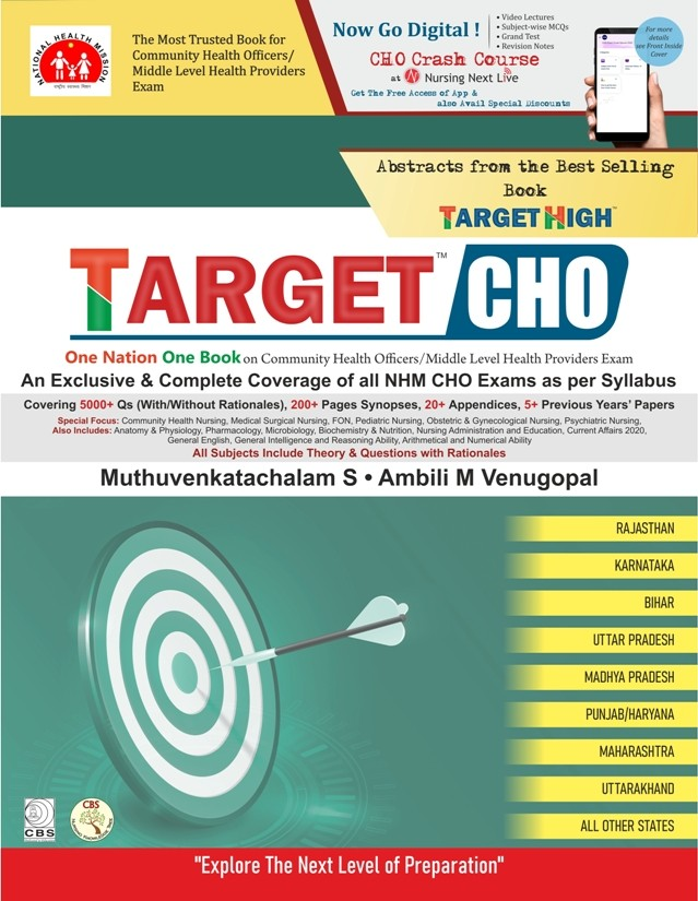 TARGET CHO ONE NATION ONE BOOK ON COMMUNITY HEALTH OFFICERS MIDDLE LEVEL HEALTH PROVIDERS EXAM (PB 2021)