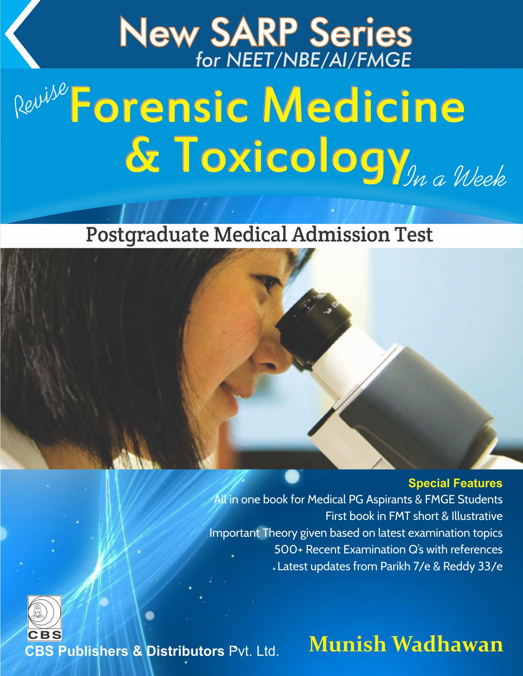New Sarp Series For Neet/Nbe/Ai(Revise Forensic Medicine & Toxicology In A Week) Pb 2016