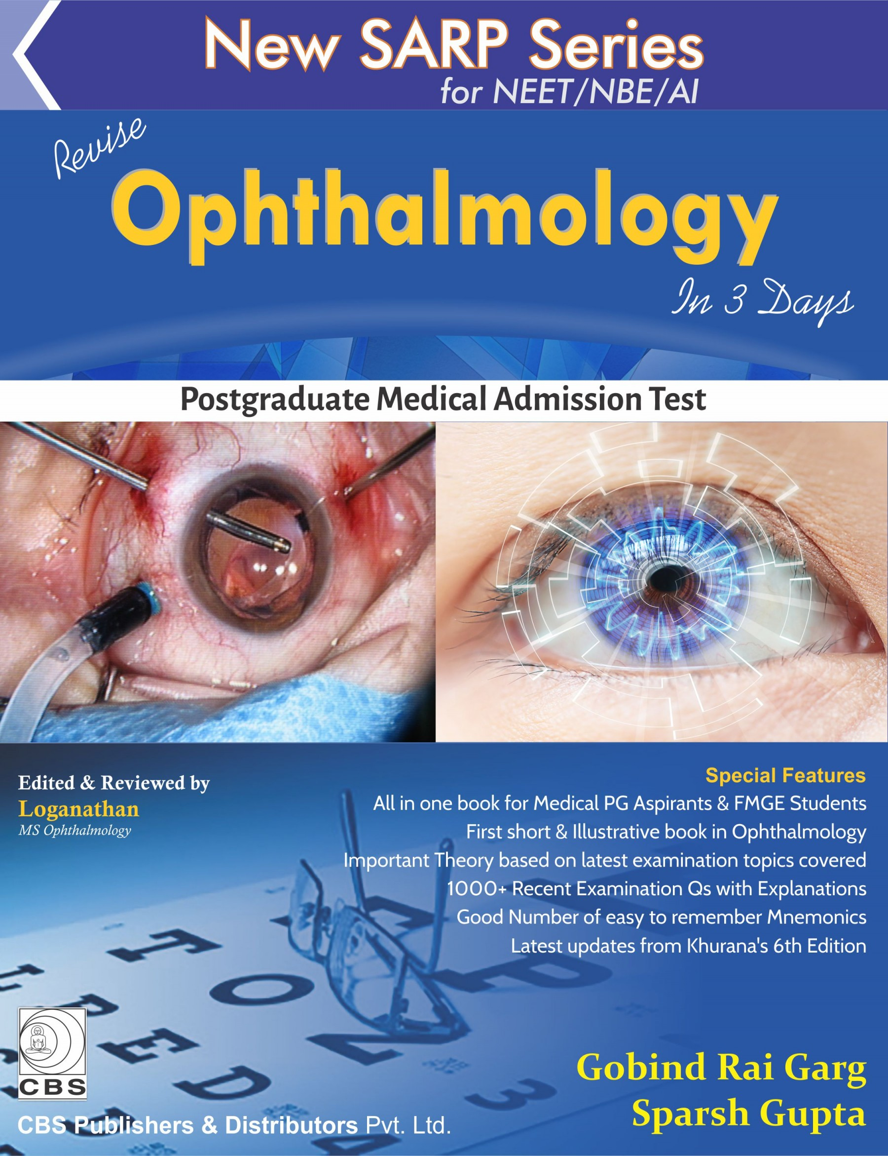 New Sarp Series For Neet/Nbe/Ai Revise Ophthalmology In 3 Days