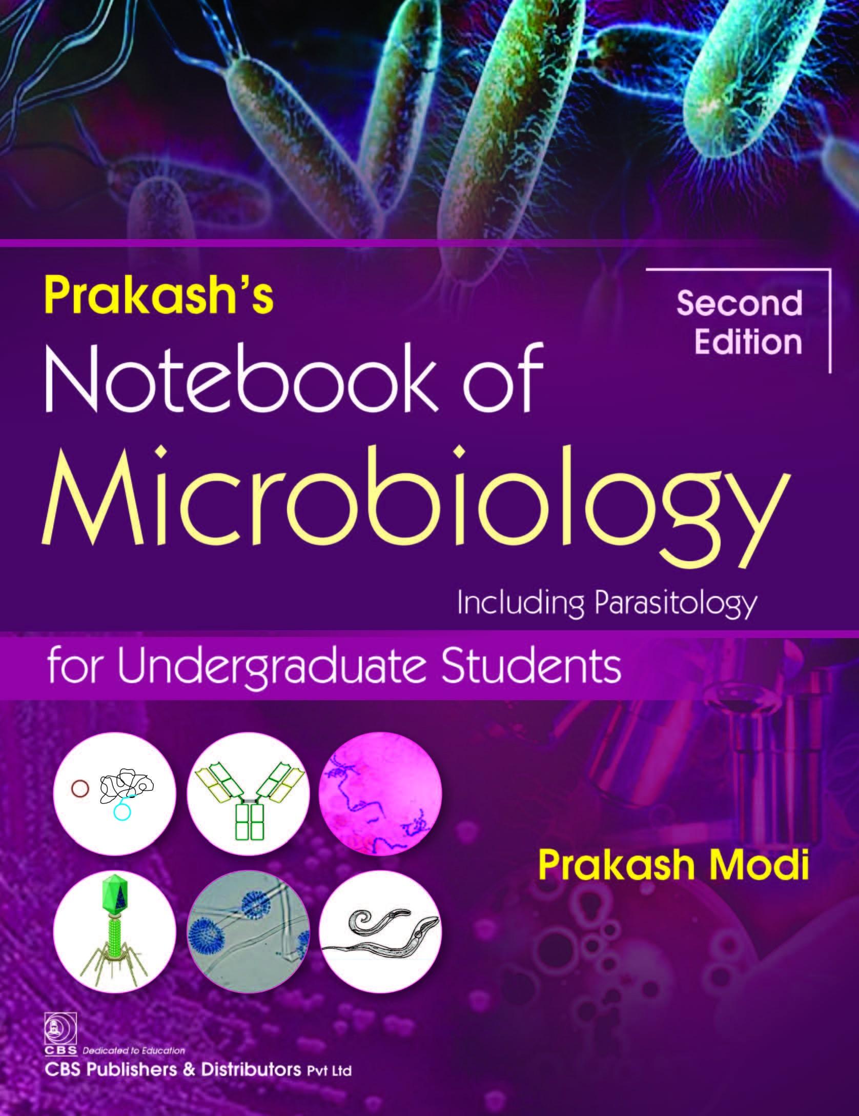 Prakash's Notebook of Microbiology including Parasitology for Undergraduate Students, 2/e