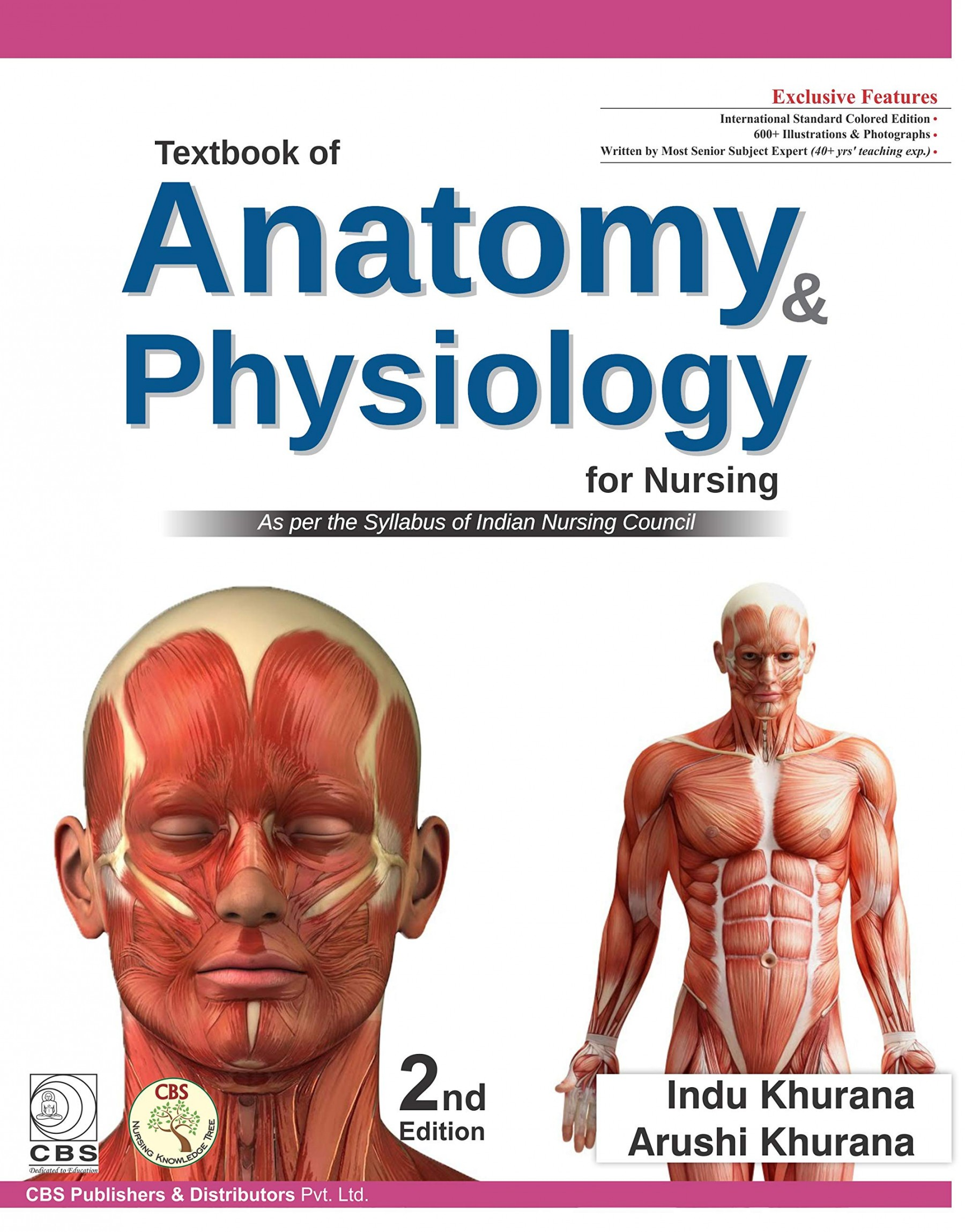 Textbook of Anatomy & Physiology for BSc Nurses