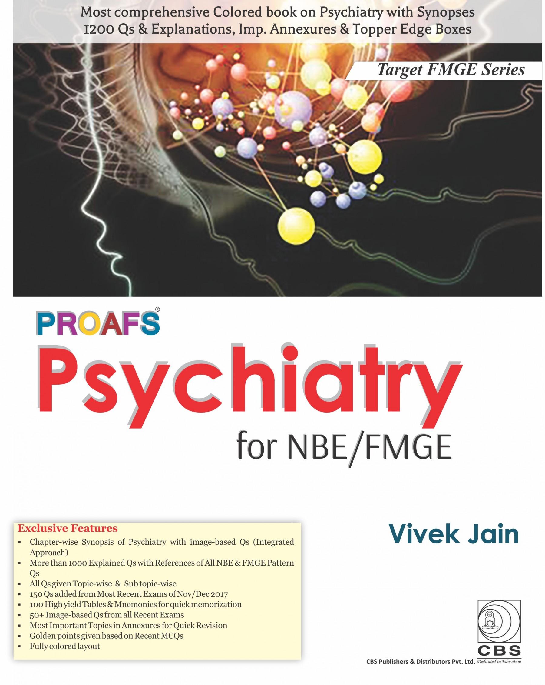 PROAFS PSYHIATRY FOR NBE FMGE (PB 2018) (TARGET FMGE SERIES)