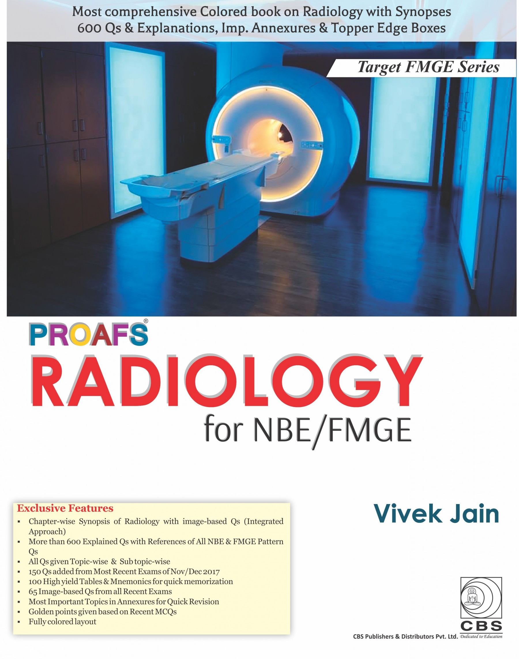 PROAFS RADIOLOGY FOR NBE FMGE (PB 2018) (TARGET FMGE SERIES)