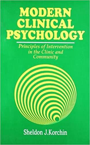 Modern Clinical Psychology (Pb 2004)