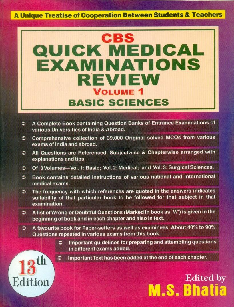 Cbs Quick Medical Examinations Review, 13E, Vol. 1