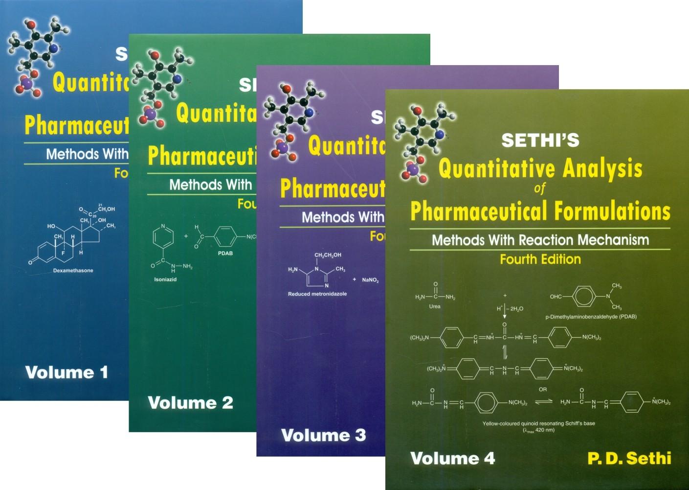 Sethi's Quantitative Analysis Of Pharmaceutical Formulations Methods With Reaction Mechanism 4Ed 4 Vol. Set (Hb)