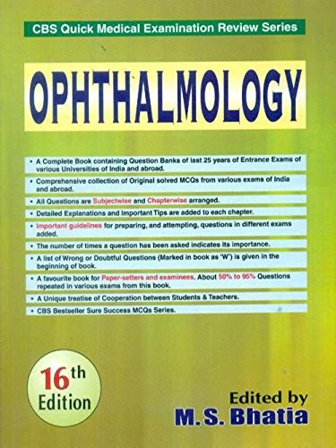 Opthalmology (Cbs Quick Medical Examination Review Series) (Pb )