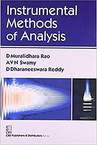 Instrumental Methods of Analysis