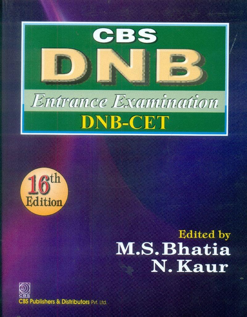 Cbs Dnb Entrance Examination Dnb-Cet, 16Edn (Pb 2015)