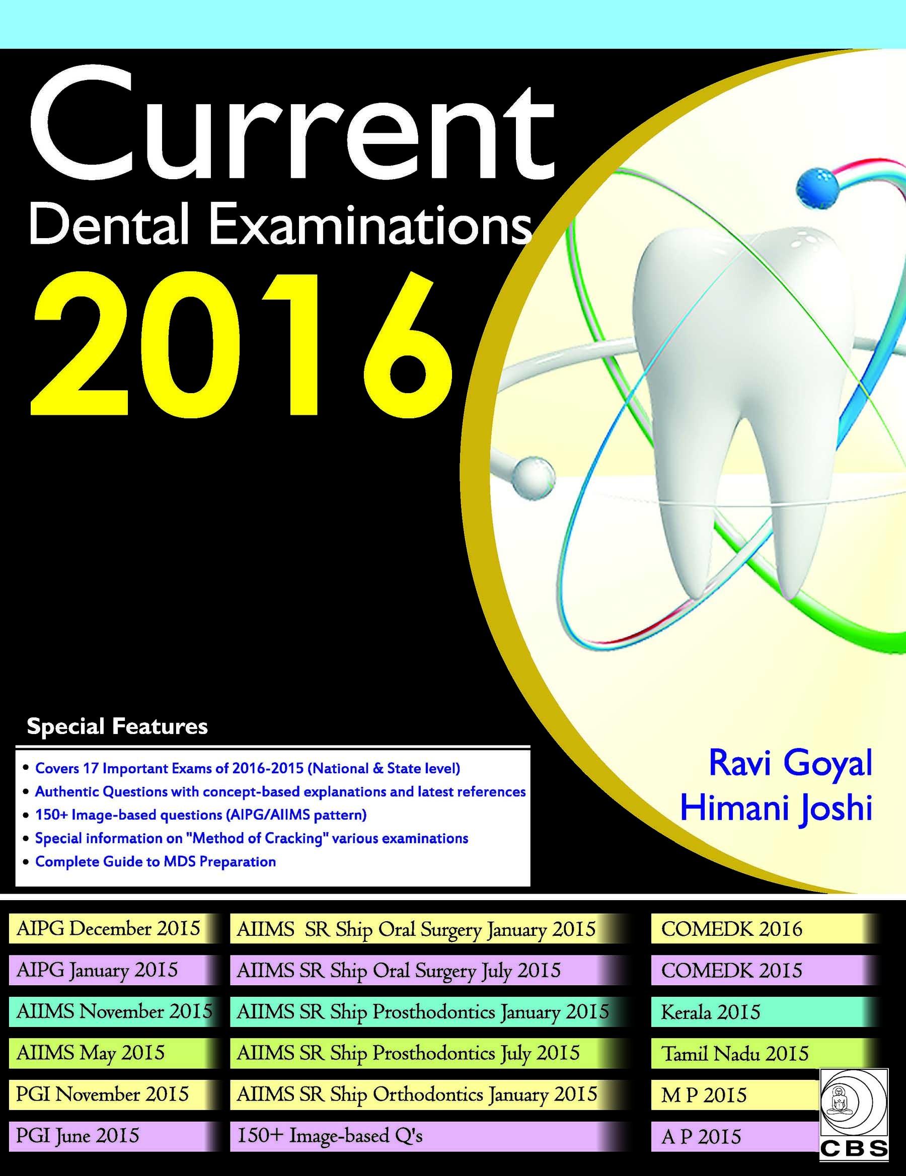 Current Dental Examinations 2016 (Pb)