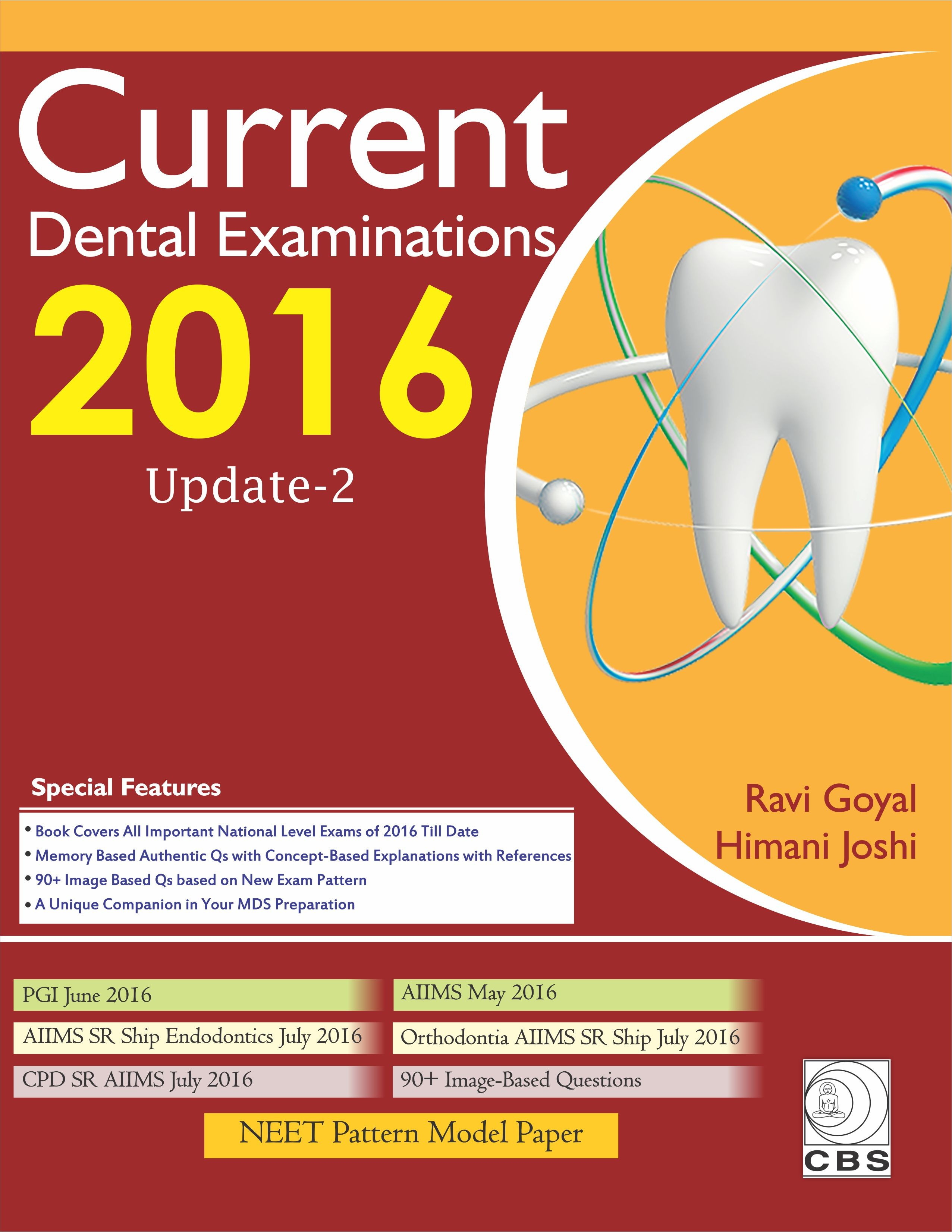 Current Dental Examination 2016 Update 2