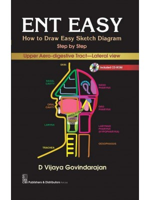 ENT EASY How to Draw Easy Sketch Diagram Step by Step Upper Aero-digestive Tract Lateral View with CD-Rom  (1st Reprint)