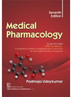 Medical Pharmacology By Padmaja Udaykumar (7th edition 2021) | 9788194708285 | Padmaja Udaykumar